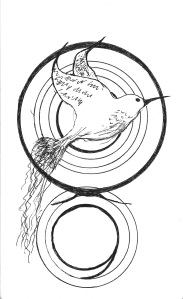 hummingbird circled