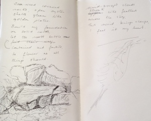 beach notes 2 & sketch