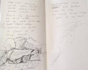 beach notes 2 & sketch