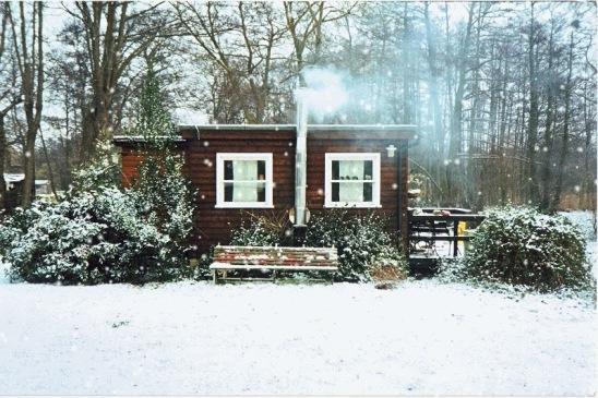 Trinity Island house & snow